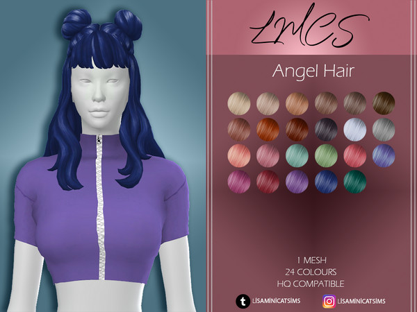 Sims 4 LMC Angel Hair by Lisaminicatsims at TSR