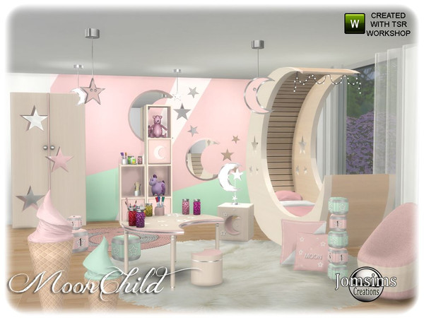 Moonchild kids bedroom by jomsims at TSR image 6510 Sims 4 Updates