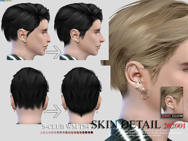 Skin Detail 202001 by S Club WM at TSR image 6519 Sims 4 Updates