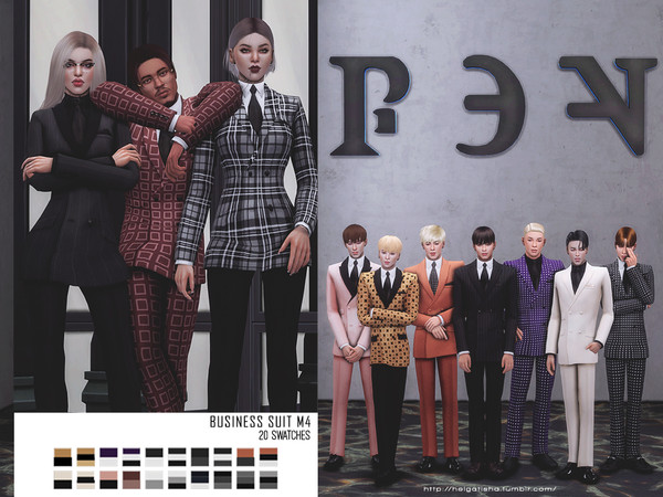 Sims 4 Business suit m4 by HelgaTisha at TSR