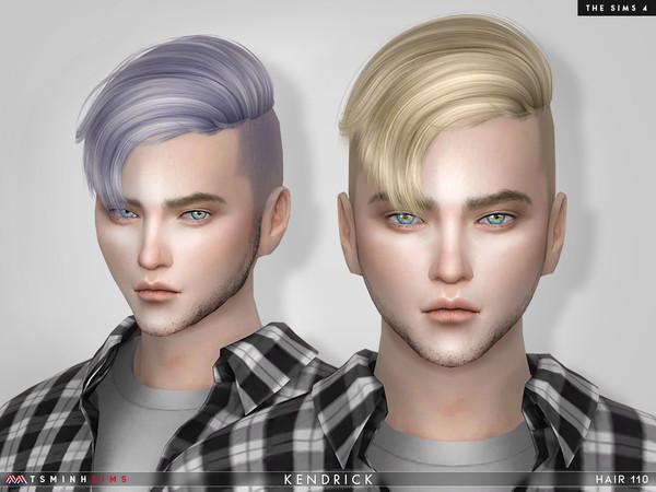 Sims 4 Kendrick Hair 110 by TsminhSims at TSR