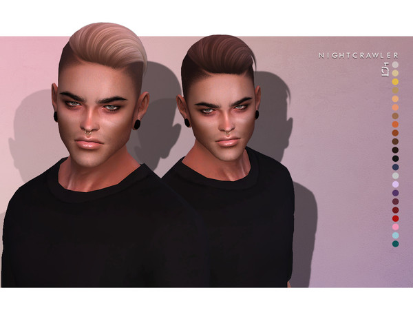 Sims 4 Hot HAIR by Nightcrawler at TSR