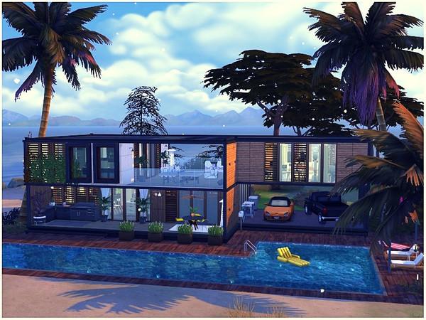 Sims 4 Ocean View modern house by lotsbymanal at TSR