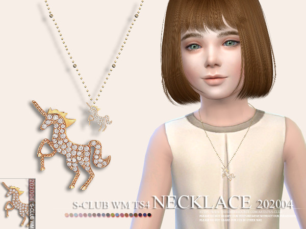Sims 4 Necklace 202004 by S Club WM at TSR