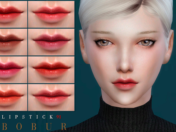 Sims 4 Lipstick 91 by Bobur3 at TSR
