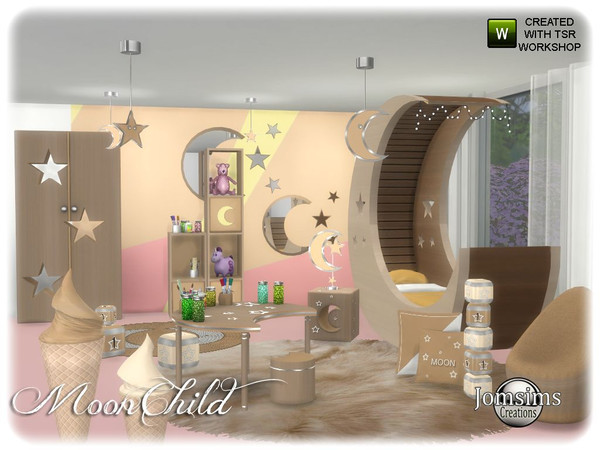 Moonchild kids bedroom by jomsims at TSR image 6710 Sims 4 Updates