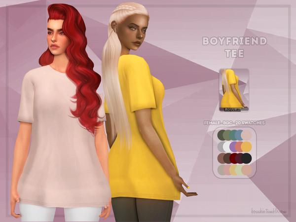 Sims 4 Boyfriend Tee by Kouukie at TSR