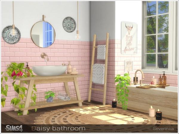Sims 4 Daisy bathroom by Severinka at TSR