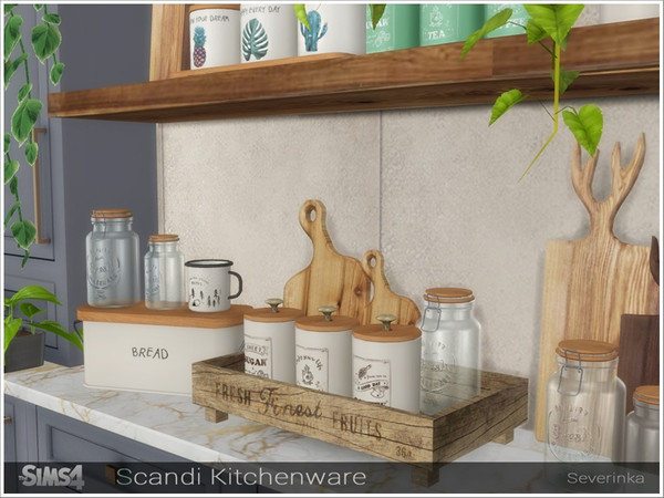 Scandi Kitchenware by Severinka at TSR image 675 Sims 4 Updates
