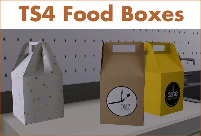 Food boxes recolors of LeoSims' Mini Package at Riekus13 image 678 670x453 Sims 4 Updates