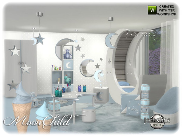 Moonchild kids bedroom by jomsims at TSR image 6810 Sims 4 Updates