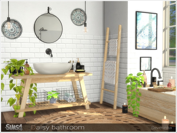 Daisy bathroom by Severinka at TSR image 6818 Sims 4 Updates