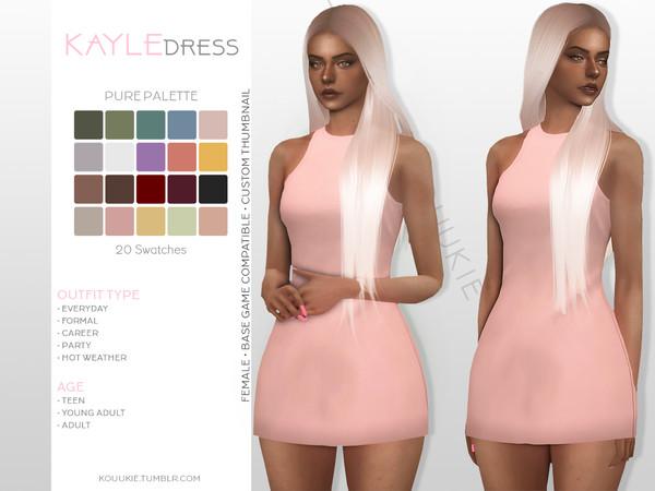 Sims 4 Kayle Dress by Kouukie at TSR