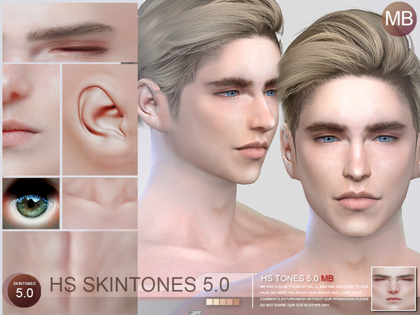Sims 4 HS5.0 skintones MB by S Club WMLL at TSR