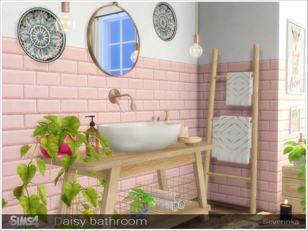 Daisy bathroom by Severinka at TSR image 6918 Sims 4 Updates