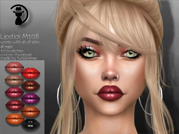 Sims 4 Lipstick M108 by turksimmer at TSR