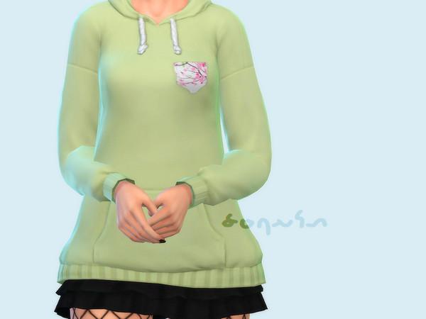 Sims 4 Sakura Pocket Hoodie by Saruin at TSR