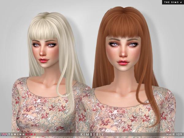 Sims 4 Kimberly Hair 109 by TsminhSims at TSR