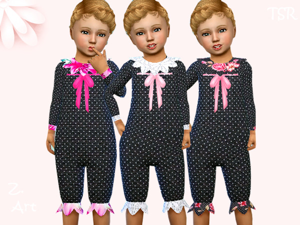 Sims 4 BabeZ 74 pretty patterned romper by Zuckerschnute20 at TSR