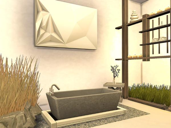 Sims 4 Modern Oasis House No CC by Sarina Sims at TSR