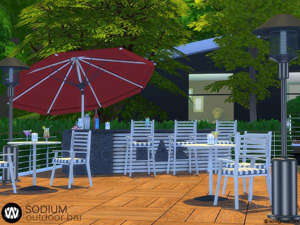 Sodium Outdoor Bar by wondymoon at TSR image 7124 Sims 4 Updates