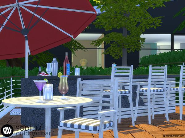 Sodium Outdoor Bar by wondymoon at TSR image 7222 Sims 4 Updates