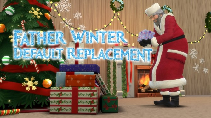 Sims 4 Father Winter As Santa Default Replacement by Simaginarium at Mod The Sims