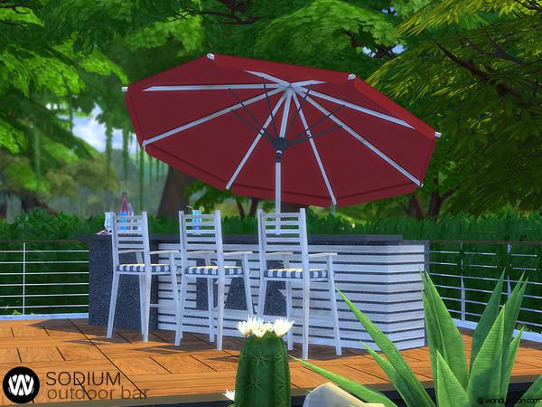 Sodium Outdoor Bar by wondymoon at TSR image 7320 Sims 4 Updates