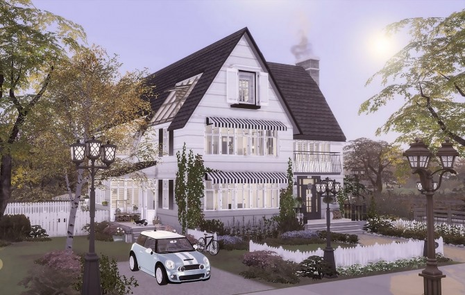 Sims 4 Monochrome House at Ruby's Home Design