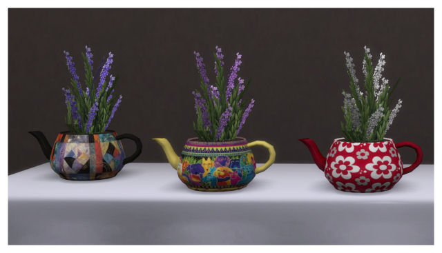 Teapot plant recolors by Chalipo at All 4 Sims image 75111 Sims 4 Updates