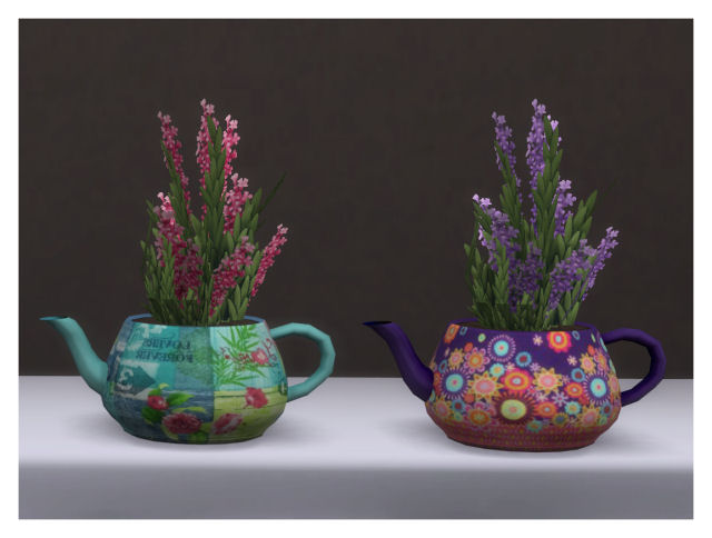 Teapot plant recolors by Chalipo at All 4 Sims image 76111 Sims 4 Updates