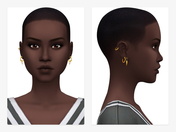 Sims 4 Hoops & Leaves Earrings V1 by Nords at TSR