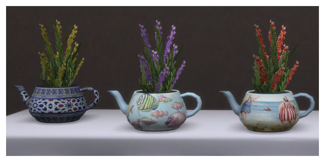 Teapot plant recolors by Chalipo at All 4 Sims image 77111 Sims 4 Updates