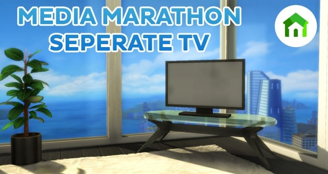 Sims 4 Tiny Living Media Marathoner TV Separated by simsi45 at Mod The Sims