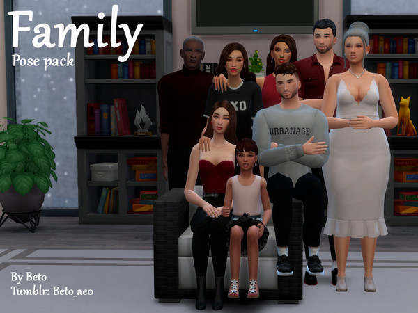Family Pose Pack by Beto ae0 at TSR image 790 Sims 4 Updates
