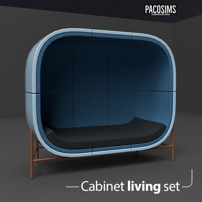 Cabinet Living Set (P) at Paco Sims image 791 670x670 Sims 4 Updates