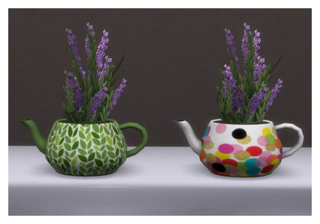 Teapot plant recolors by Chalipo at All 4 Sims image 8012 Sims 4 Updates
