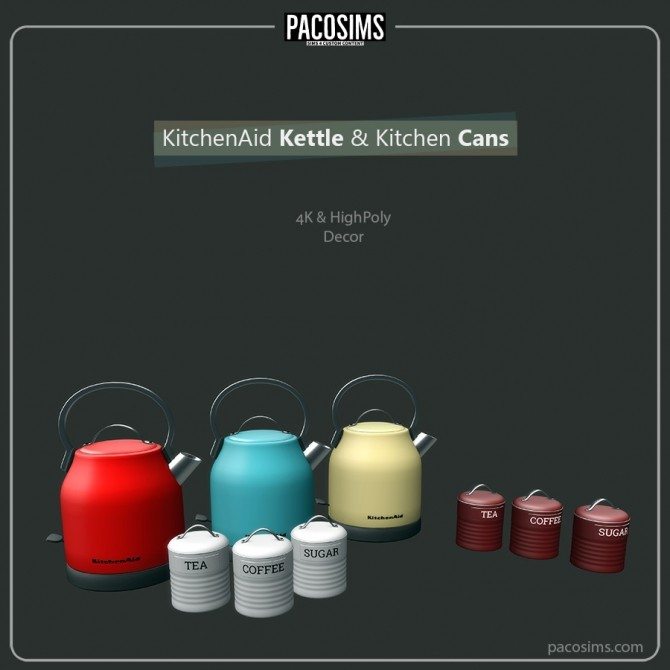 Sims 4 Kettle & Kitchen Cans (P) at Paco Sims