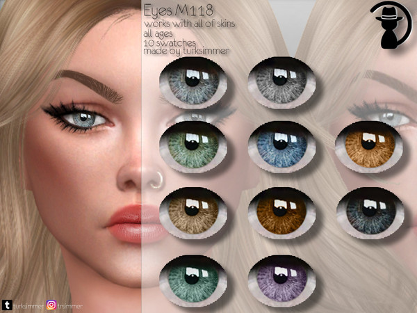 Sims 4 Eyes M118 by turksimmer at TSR