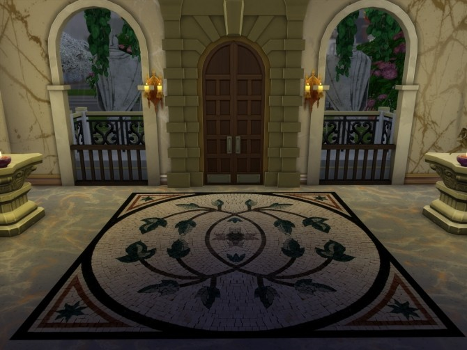 Sims 4 Set of Antique Roman Rugs at Anna Quinn Stories