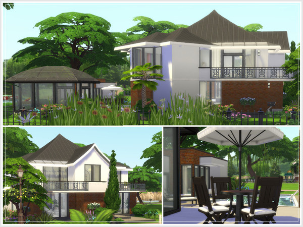 Sims 4 Rathmines house by philo at TSR