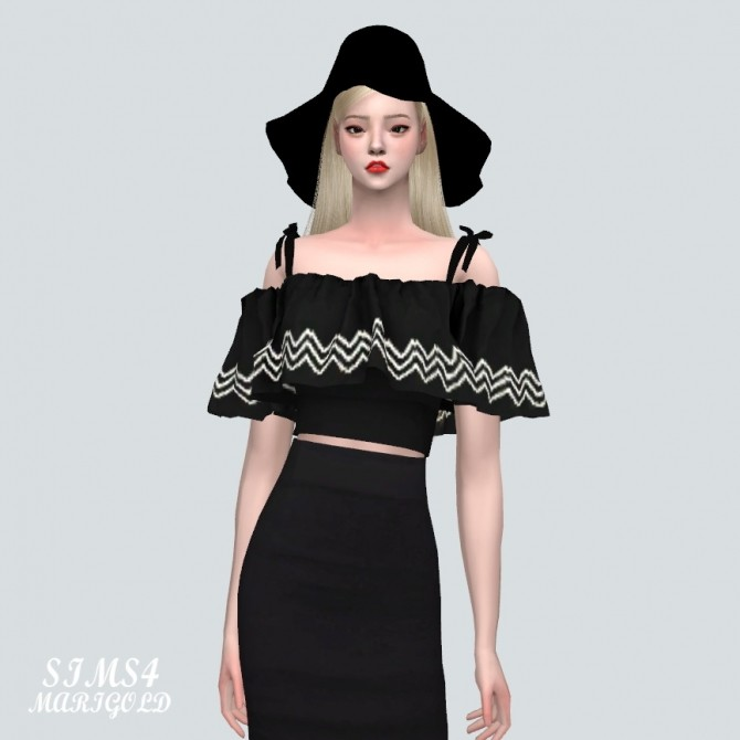 Off Shoulder Blouse at Marigold image 8119 670x670 Sims 4 Updates