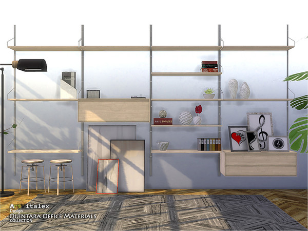 Quintara Office Materials by ArtVitalex at TSR image 82 Sims 4 Updates