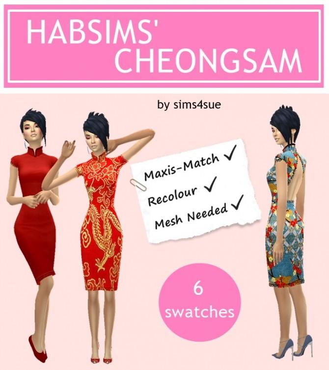 HABSIMS' CHEONGSAM dress at Sims4Sue image 8220 670x754 Sims 4 Updates