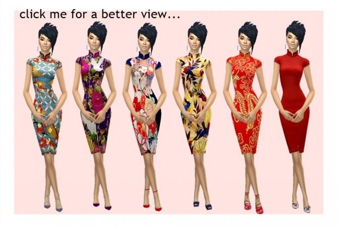HABSIMS' CHEONGSAM dress at Sims4Sue image 8317 670x451 Sims 4 Updates