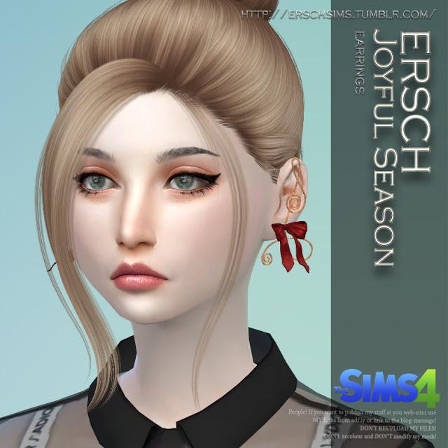 Sims 4 Joyful Season Earrings at ErSch Sims