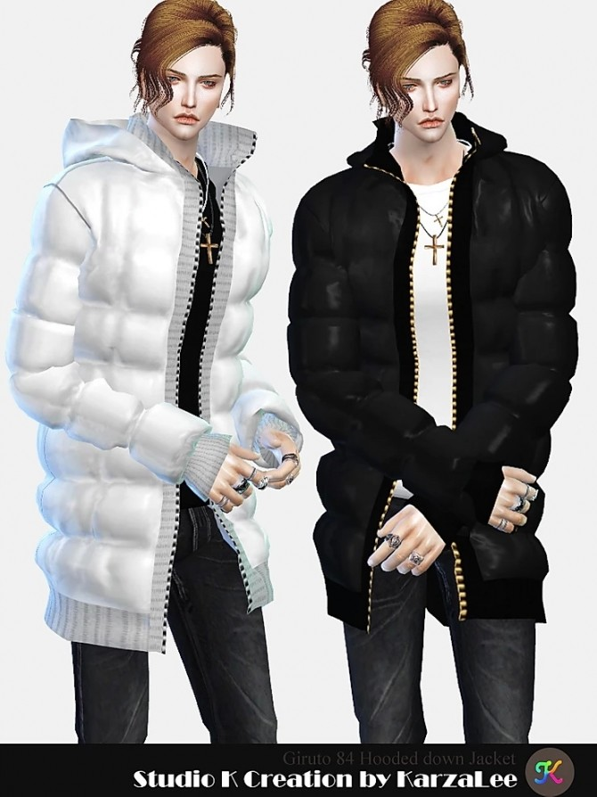Sims 4 Hooded down jacket at Studio K Creation