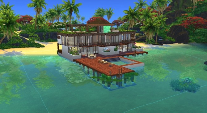 Rivage de Saphir house by valbreizh at Mod The Sims image 8513 670x365 Sims 4 Updates