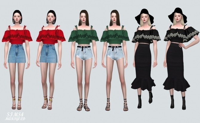 Off Shoulder Blouse at Marigold image 85131 670x413 Sims 4 Updates