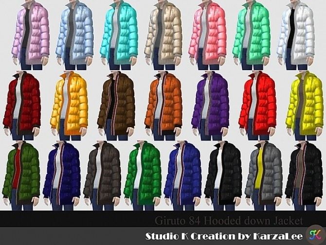 Hooded down jacket at Studio K Creation image 86 670x503 Sims 4 Updates